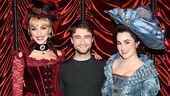 Daniel Radcliffe gets some quality time in with lovely ladies Lisa O'Hare and Lauren Worsham.