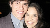 Aww! Wicked's romantic leads (and real-life friends) Derek Klena and Lindsay Mendez share a hug.
