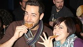 Dig in, daters! After 100 shows, Zachary Levi and Krysta Rodriguez are ready to enjoy some delectable desserts.