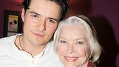 Orlando Bloom pauses for a photo with Tony, Oscar and Emmy winner Ellen Burstyn, who recently starred in the Broadway revival of Picnic.
