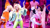 Mamma Mia! super troupers Felicia Finley, Judy McLane and Lauren Cohn rock out during the show's disco finale.