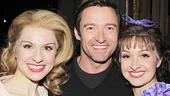 Hugh Jackman reunites with Robin Campbell and Lara Seibert, who were dancers in his most recent show on the Great White Way, Hugh Jackman: Back on Broadway.