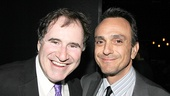 The Big Knife Tony nominee Richard Kind shares a laugh with his long-time friend Hank Azaria.