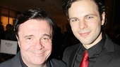 Macbeth's Jonny Orsini (Malcolm) gets support from his The Nance co-star, Nathan Lane.