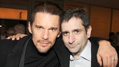 Ethan Hawke throws an arm around his good friend and playwright, Jonathan Marc Sherman.