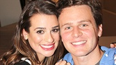 Lovers on stage, BFF off: Lea Michele shares a Spring Awakening reunion photo with Jonathan Groff.