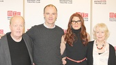 Brian F. O'Byrne and Debra Messing are sandwiched by their co-stars John Aylward and Dearbhla Molloy.