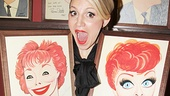 Funny lady Annaleigh Ashford poses with her comedy idols Gwen Verdon and Lucille Ball.