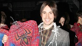 Reeve Carney poses with his iconic Spider-Man costume, which was designed by Eiko Ishioka and inducted into the into the Smithsonian Institution on January 4.