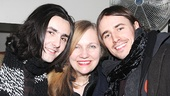 It's the Carney sibs and their mom! From left: Zane Carney, Marti Heil and, of course, Reeve Carney.