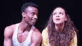Sheldon Best as Colin & Jasmine Cephas Jones as Kenisha in The Loneliness of the Long Distance Runner