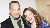 Tom Hanks greets Beautiful star Jessie Mueller backstage.