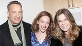 Tom Hanks and his wife Rita Wilson flank Beautiful headliner Jessie Mueller.