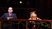 Tony Shalhoub as Moss Hart, Andrea Martin as Aunt Kate & Santino Fontana as Moss Hart in Act One