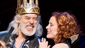 Terrence Mann as Charles and Charlotte d'Amboise as Fastrada in Pippin.
