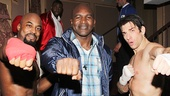 This trio really packs a punch! Rocky stars Terence Archie and Andy Karl flank Evander Holyfield.
