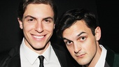 The Bridges of Madison County star Derek Klena with Smash and Broadway vet Wesley Taylor.