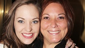 Broadway favorite Laura Osnes with her longtime dresser, Tamara Kopko.
