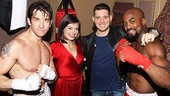 Andy Karl (Rocky Balboa), Margo Seibert (Adrian) and Terence Archie (Apollo Creed) take a parting shot with Michael Buble. See Rocky at the Winter Garden Theatre!