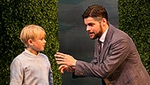 Jeremy Jordan as  J. M. Barrie and the company of Finding Neverland