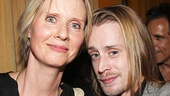 Cynthia Nixon, who will star in The Real Thing this fall, strikes a pose with Macaulay Culkin, on hand to cheer on his brother Kieran in This Is Our Youth.