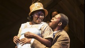 Danielle Brooks as Sofia and Kyle Scatliffe as Harpo in The Color Purple.