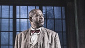 Frank Wood as A Night Clerk & Forest Whitaker as Erie Smith in 'Hughie'