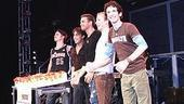 Altar Boyz 500 - Andrew Call - Ryan Duncan - Jason Celaya - Tyler Maynard - Dennis Moench - cake on stage