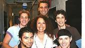 Photo Op - Manchester Guarini at Altar Boyz - Melissa Manchester - Shaun Taylor-Corbett - Zach Hanna - Jason Celaya - Dennis Moench - Andrew C. Call