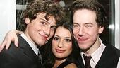 Photo Op - Spring Awakening Broadway opening - Jonathan Groff - Lea Michele - John Gallagher Jr. (smiling)