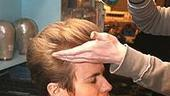 Photo Op - Ashley Parker Angel goes into Hairspray - pompadour gets hairspray