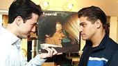 Photo Op - Jersey Boys in SF - Christopher Kale Jones - Deven May (with record album)