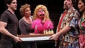 Photo Op - Avenue Q plays 1,500 performance - cast with cake