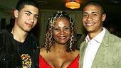 Photo Op - Radio Golf opening - Tonya Pinkins - (sons) Myles Brawer - Maxx Brawer