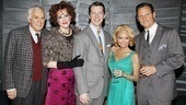 Promises, Promises stars Dick Latessa, Katie Finneran, Sean Hayes, Kristin Chenoweth and Tony Goldwyn raise a toast to 100 performances.