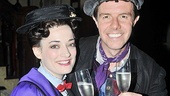 Cheers! No spoonful of sugar needed here as the stars toast with some tasty Champagne to Lee's return.