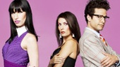 Brian Stokes Mitchell as Ivan, Patti LuPone as Lucía, Nikka Graff Lanzarone as Marisa, Laura Benanti as Candela and Justin Guarini as Carlos in Women on the Verge of a Nervous Breakdown.