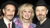 After slipping out of their 17th century costumes, stars Mark Rylance, Joanna Lumley and David Hyde Pierce are ready to enjoy their big night.
