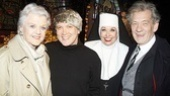 After hopping out of his nun habit, show star Charles Busch joins co-star Julie Halston for a picture alongside theater greats Angela Lansbury and Ian McKellen.