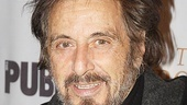 No stranger to the red carpet, Al Pacino smiles for the cameras on his latest Broadway opening night.