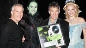 Backstage, producer Marc Platt joins Mandy Gonzalez, Stephen Schwartz and Katie Rose Clarke as they celebrate another Wicked milestone.