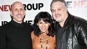 Director Scott Elliott and playwright Tommy Nohilly flank one of Blood's charismatic stars, Daphne Rubin-Vega.