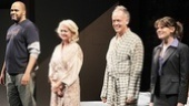 Victor Williams, Michele Pawk, Reed Birney and Celia Keenan-Bolger take a bow on opening night of A Small Fire.