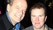 A little less glitzy but no less glamorous, Kelsey Grammer and Douglas Hodge enjoy their closing night party. 