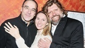 What a trio! Star Mandy Patinkin, playwright Rinne Groff and Public Theater Artistic Director Oskar Eustis, who helmed Compulsion. 