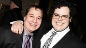 Josh Gad (r.) throws an arm around his standby, Jared Gertner.