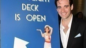 Colin Donnell welcomes guests aboard the Anything Goes opening night party.