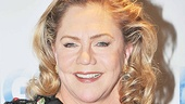 Kathleen Turner exchanges her neutral nun duds for something with a little more opening night style. 