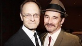 Its a La Bete reunion as David Hyde Pierce congratulates former co-star Mark Rylance. 
