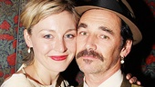 Juliet Rylance goes cheek to cheek with her stepfather, Mark Rylance, at Jerusalems opening party. 